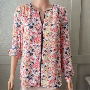 ModCloth multi colored flowered top